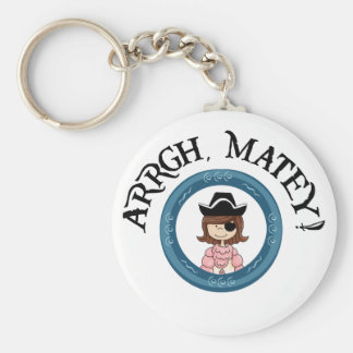 Arrgh Matey Pirate Girl Key Chain