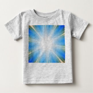Arrière - plan bleu d'éclat d'étoile d'éruption t-shirt pour bébé