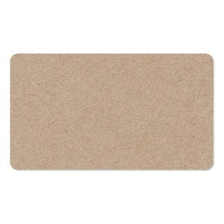 Arrière - plan de papier de Brown emballage imprim Cartes De Visite Professionnelles