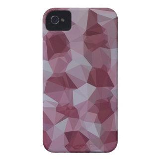 Arrière - plan de polygone d'abrégé sur rouge de coque iPhone 4 Case-Mate