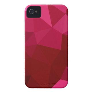 Arrière - plan de polygone d'abrégé sur rouge de étui iPhone 4