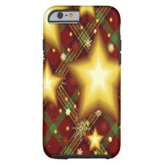 Arrière - plan d'étoiles de jaune, vert et rouge coque iPhone 6 tough