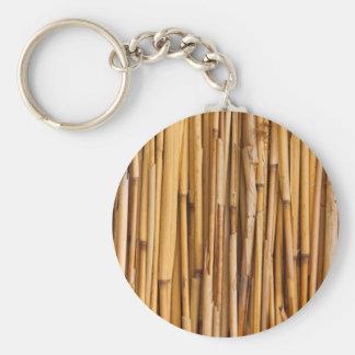 Arrière - plan en bambou porte-clé rond