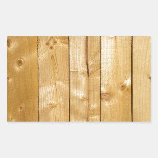 Arrière - plan en bois lumineux autocollant rectangulaire