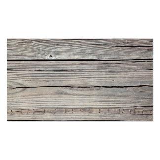 Arrière - plan en bois patiné vintage - vieux carte de visite standard