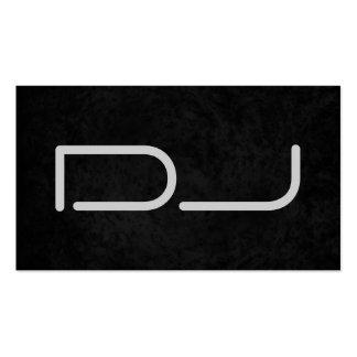 Arrière - plan gris noir élégant du DJ Carte De Visite Standard