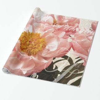 Arrière - plan rose de manuscrit de marbre de papiers cadeaux noël