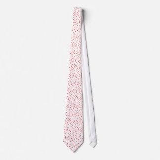 Arrière - plan rouge de coeurs cravate