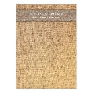 Arrière - plan rustique de toile de jute de carte carte de visite grand format