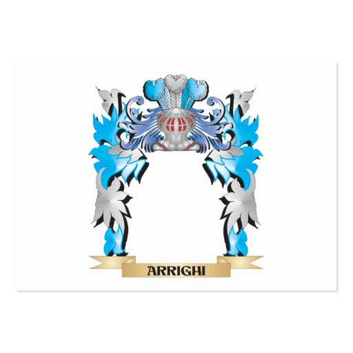 Arrighi Coat Of Arms Business Card