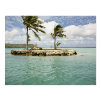 Arrival at airport in Bora Bora, Society Postcard