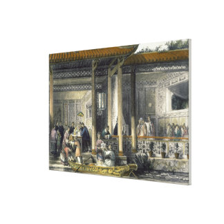 Arrival of Marriage Presents at the Bridal Residen Canvas Print