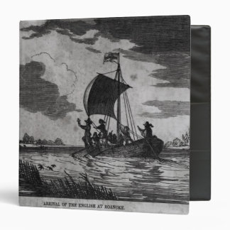 Arrival of the English at Roanoke Vinyl Binder