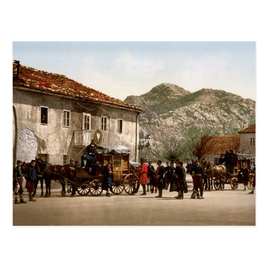 Arrival of the post Cetinje Montenegro Postcard