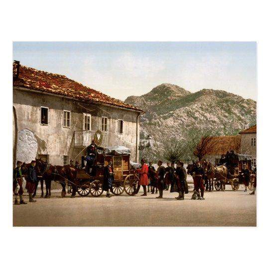 Arrival of the post Cetinje Montenegro Postcard