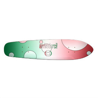 Arrivederci! Italy Flag Colors Pop Art Skate Board Deck