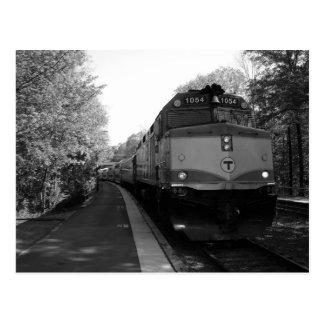 Arriving on track 1 postcard