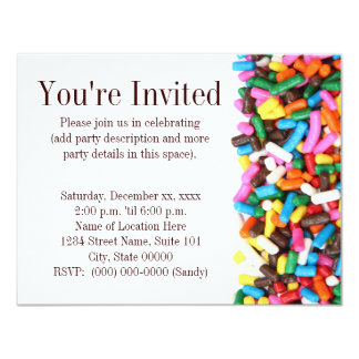 Arrose l'invitation carton d'invitation 10,79 cm x 13,97 cm