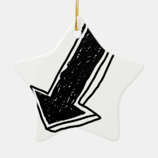 Arrow-333 Ceramic Star Ornament
