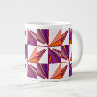 Arrow Block large Jumbo Coffee Mug Soup Cup