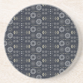 Arrow boho tribal black white pattern DIY Beverage Coaster