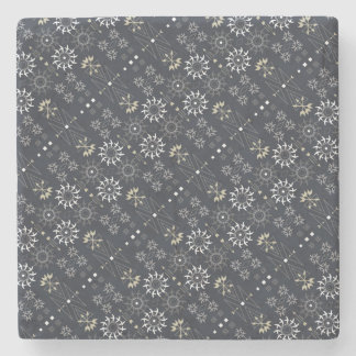 Arrow boho tribal black white pattern DIY Stone Coaster