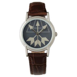 Arrow boho tribal black white pattern wristwatch