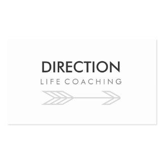 Arrow Bold Text Creative Life Coaching Business Card