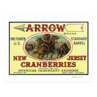 Arrow Brand Cranberry Label Postcard