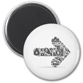 Arrow business 2 inch round magnet