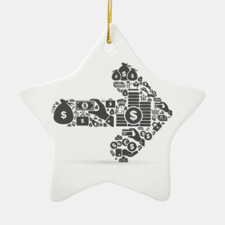 Arrow business ceramic star ornament