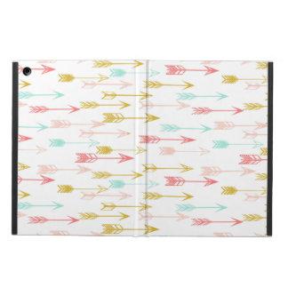 Arrow Coral Pink Mint Yellow / Andrea Lauren iPad Air Cover