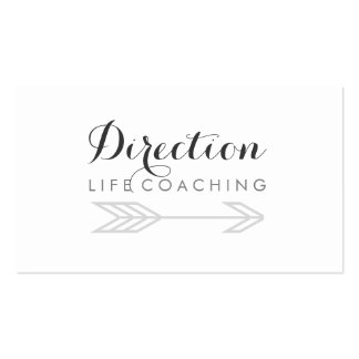Arrow Cursive Text Creative Life Coaching Business Card