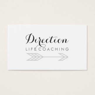 Arrow Cursive Text Creative Life Coaching Business Card