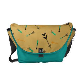Arrow Graphic Art  Aqua Messenger Bag