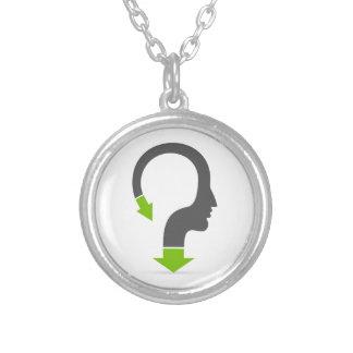 Arrow head silver plated necklace