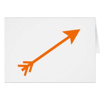 Arrow Orange 35deg The MUSEUM Zazzle Gifts Greeting Cards