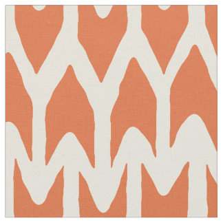 arrow orange ivory fabric
