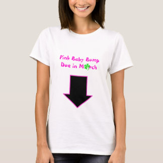 Arrow, Pink Baby Bump Due in March T-Shirt
