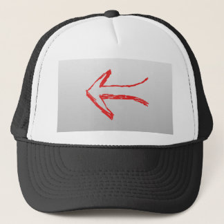 Arrow Pointing Left. On Gray. Trucker Hat