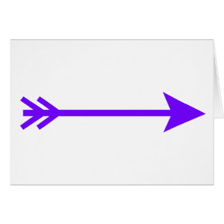 Arrow Purple Straight The MUSEUM Zazzle Gifts Greeting Card