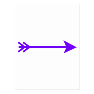 Arrow Purple Straight The MUSEUM Zazzle Gifts Post Cards