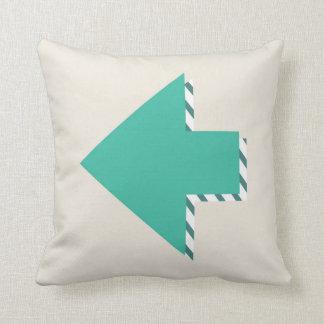 Arrow Stripes Modern Teal Blue Minimalist Throw Pillow