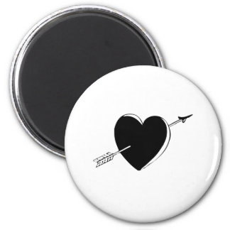 Arrow through Heart Fridge Magnets