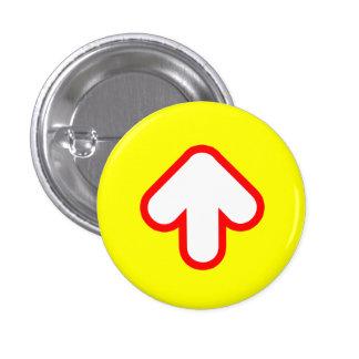 Arrow Up 1 Inch Round Button
