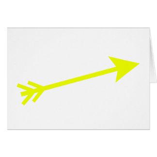 Arrow Yellow 15deg The MUSEUM Zazzle Gifts Card