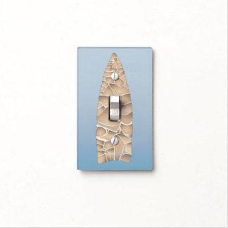 Arrowhead on Blue Light Switch Cover