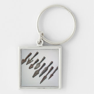 Arrowheads, Iron Age (iron) Keychain