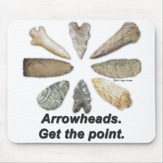 Arrowheads Points Mouse Pad