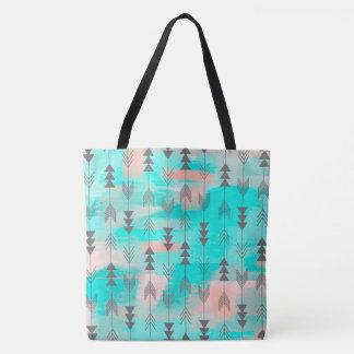 Arrows and Watercolor Tote Bag